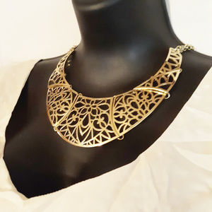 Filigree Gold Statement Necklace  Collar NWT $28